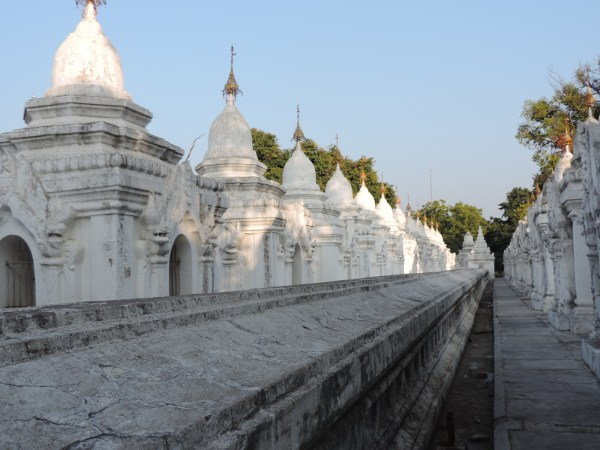 Shrines where each slab of inscribed marble lies