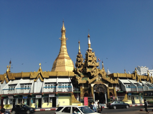 Sule Pagoda in downtown Yangon
