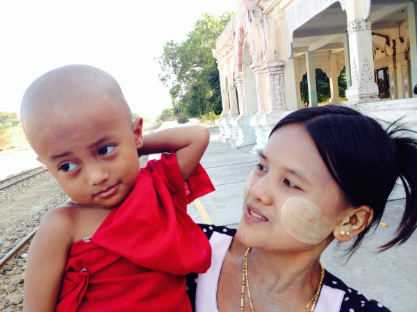 Baby Monk with mother