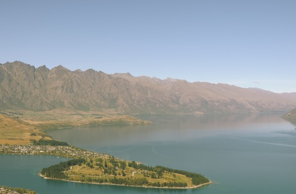 The Remarkables overlooking Lake Wakatipu and Queenstown