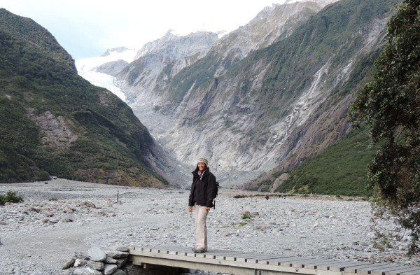 The viewpoint of the Franz Josef Glacier