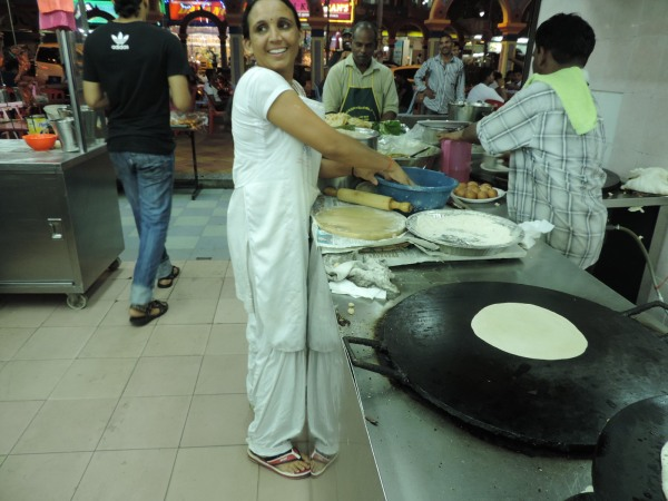 Making chapatti