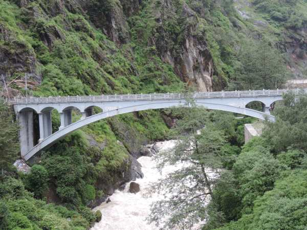 The Friendship Bridge connecting Tibet and Nepal